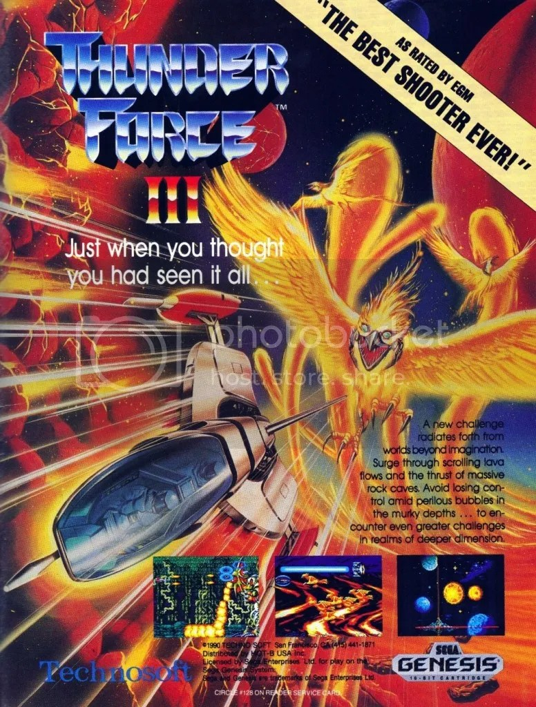 Thunder Force III Genesis ad 1991
