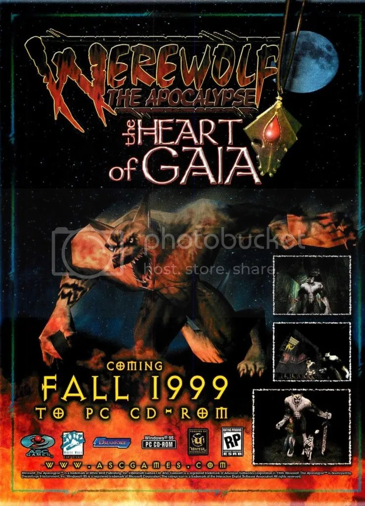 Werewolf the Apocalypse: The Heart of Gaia ad 1999