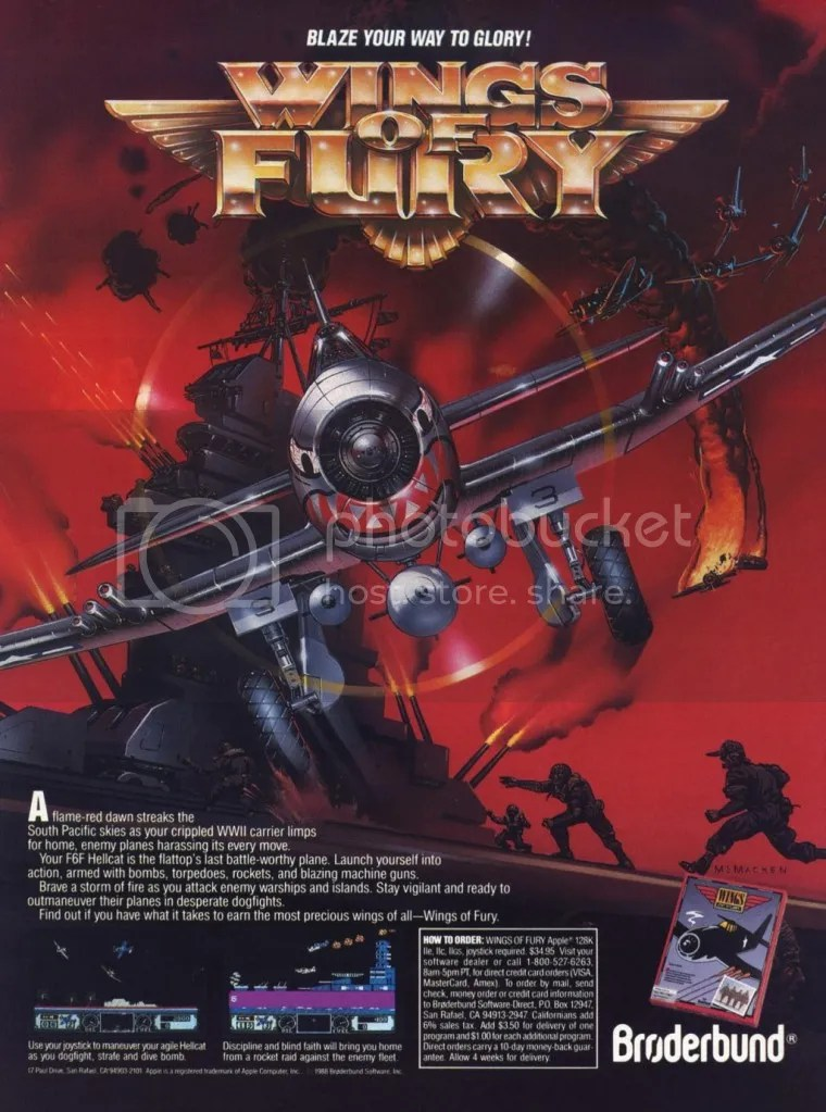 Wings of Fury ad 1988