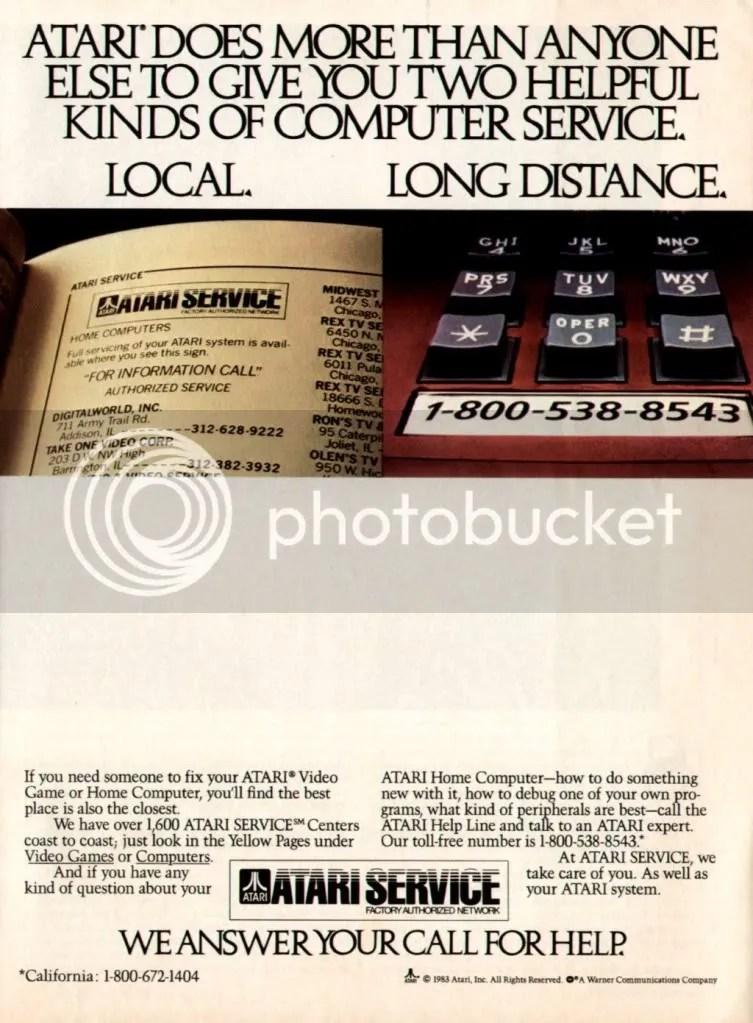 Atari repair service ad