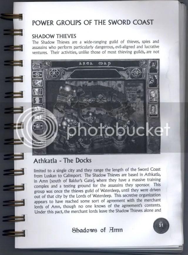 Baldur's Gate 2 manual excerpt