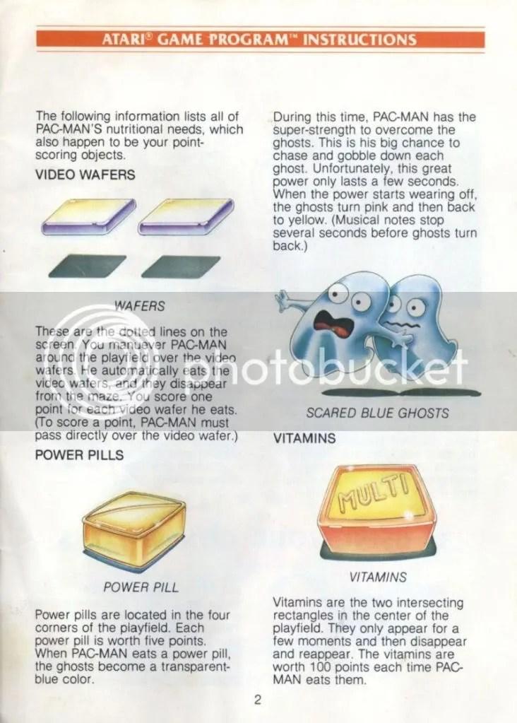 Pac Man manual excerpt