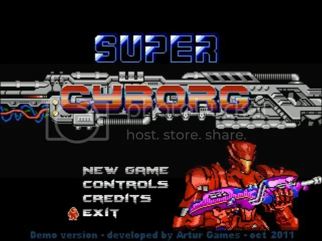 Super Cyborg Title Screen