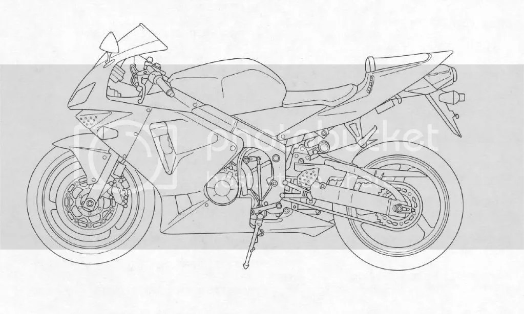 yyamaha r6 Colouring Pages