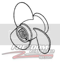 Honda BF9 9 BF15 BF 9 9 15 Outboard Boat Engine Propeller