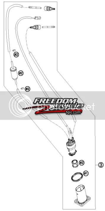2007-2013 KTM 690 DUKE SMC SUPERMOTO ENDURO FUEL PUMP KIT