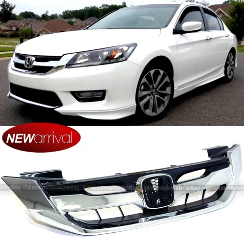 small resolution of details about fir 2013 15 9th gen honda accord 4 door chrome mod style front grille grill
