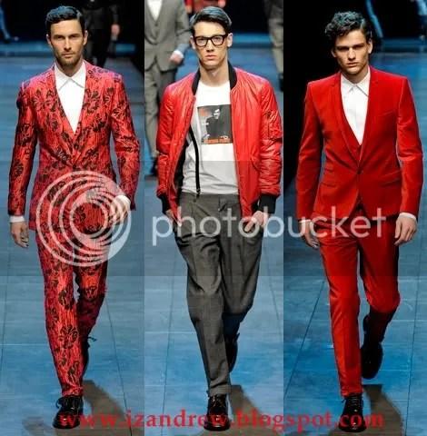 Dolce & Gabbana Fall/Winter 2011-2012 - RED LOOKS
