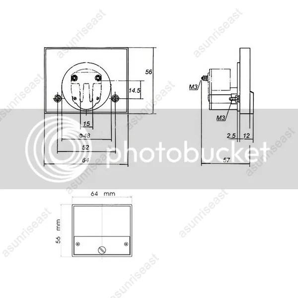1×DC 500V Analog Panel Volt Voltage Meter Voltmeter Gauge