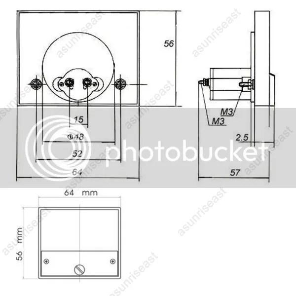 1×DC 1A Analog Panel AMP Current Meter Ammeter Gauge 85C1