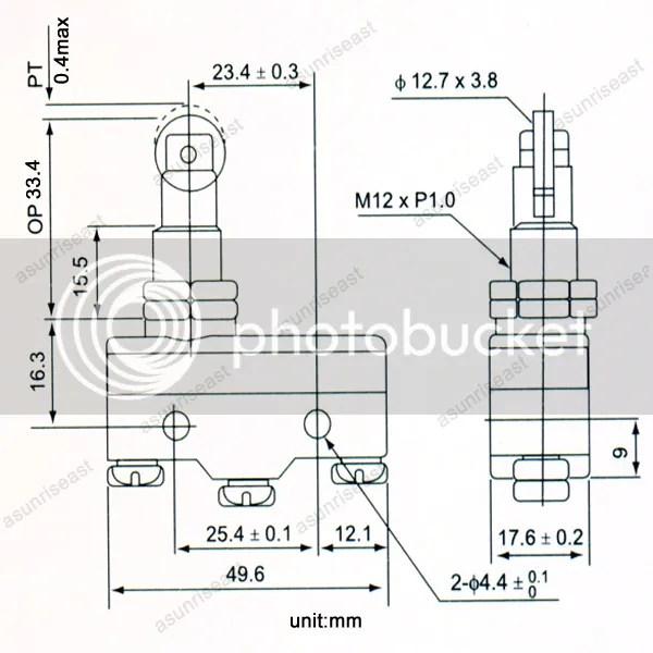 1×Micro Limit Switch Momentary TM-1308 1308 NO-COM-NC 380V