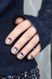 easy and chic -moon manicure
