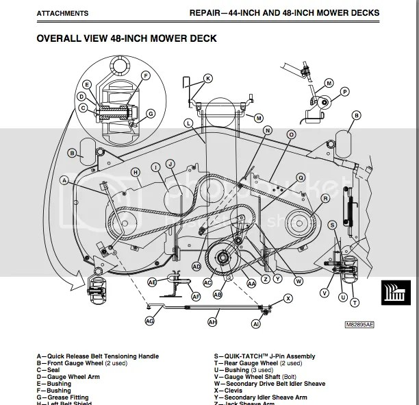 How to Change the Mower Belt on a John Deere LX178