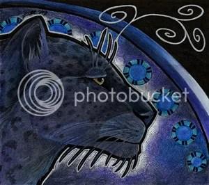 Melanistic Persian Leopard by Ravenari