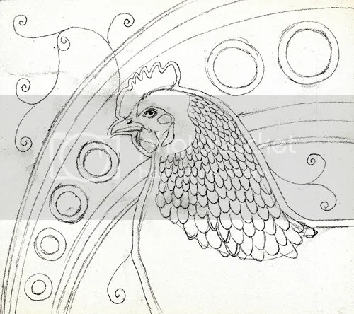 Sussex Hen Totem Sketch as Totem