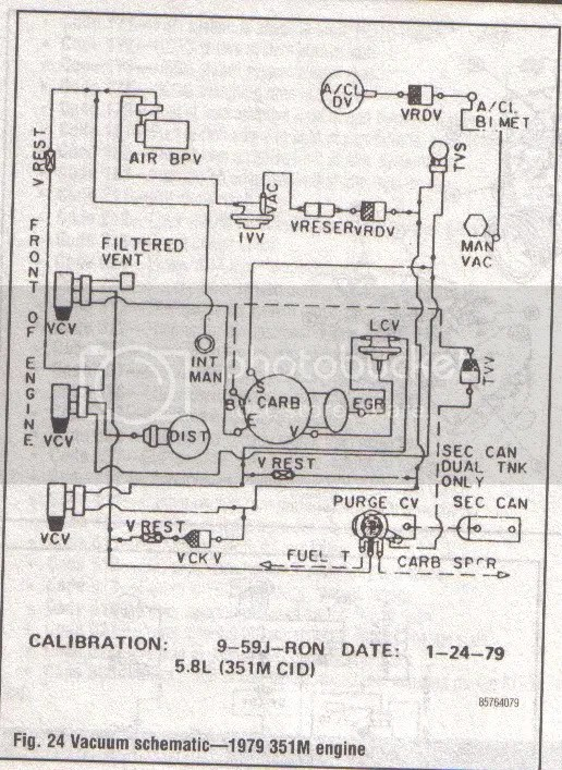 1978 Ford Bronco 351m Vacuum Diagram. Ford. Auto Wiring