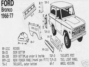Ford Bronco Econoline Van Wheel Housing 66 67 68 69 70 71