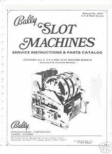 Bally electromechanical slot machine repair manual