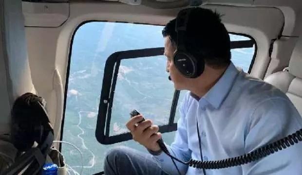 Bakan Pakdemirli, Çanakkale'deki orman yangınını havadan koordine etti 1
