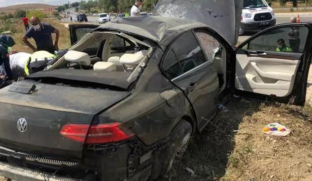 Bakan Kurum'un muhafazaları kaza yaptı 1