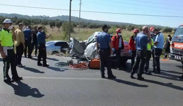 Denizden dönen baba-kızın arabası vince çarptı: Baba öldü, kızı ağır yaralı 1