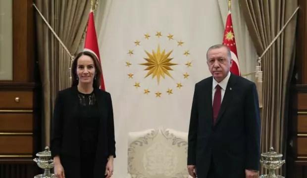 Lider Erdoğan Gabriela Cuevas Barron'u kabul etti 1
