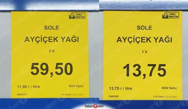 A101, BİM, SHOCK sunflower oil prices!  Will there be a raise for sunflower oil again?