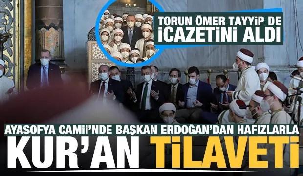 baskan erdogandan ayasofya i kebir camii serifinde kuran tilaveti 1622217321 7769