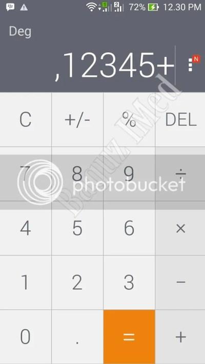 mengetik angka di kalkulator