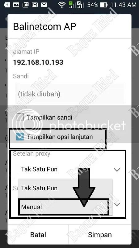 Setting Proxy di Android tanpa Aplikasi