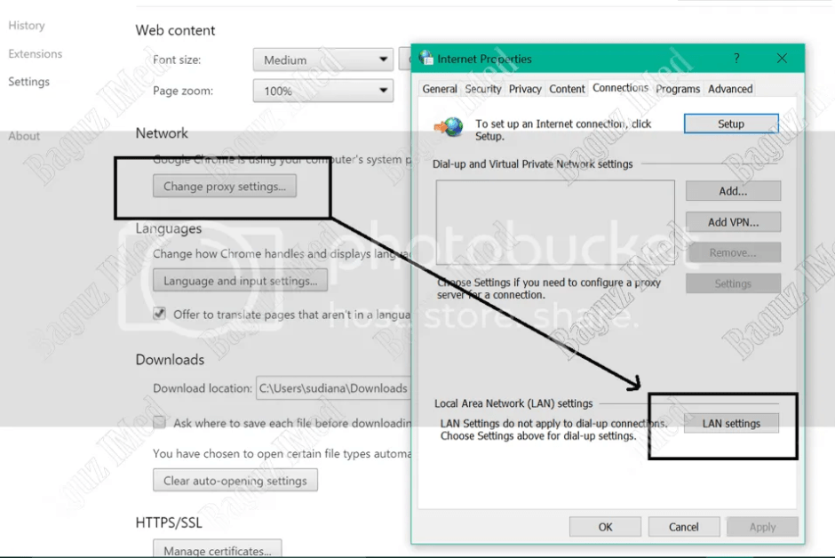 Cara Seting Proxy di browser chrome