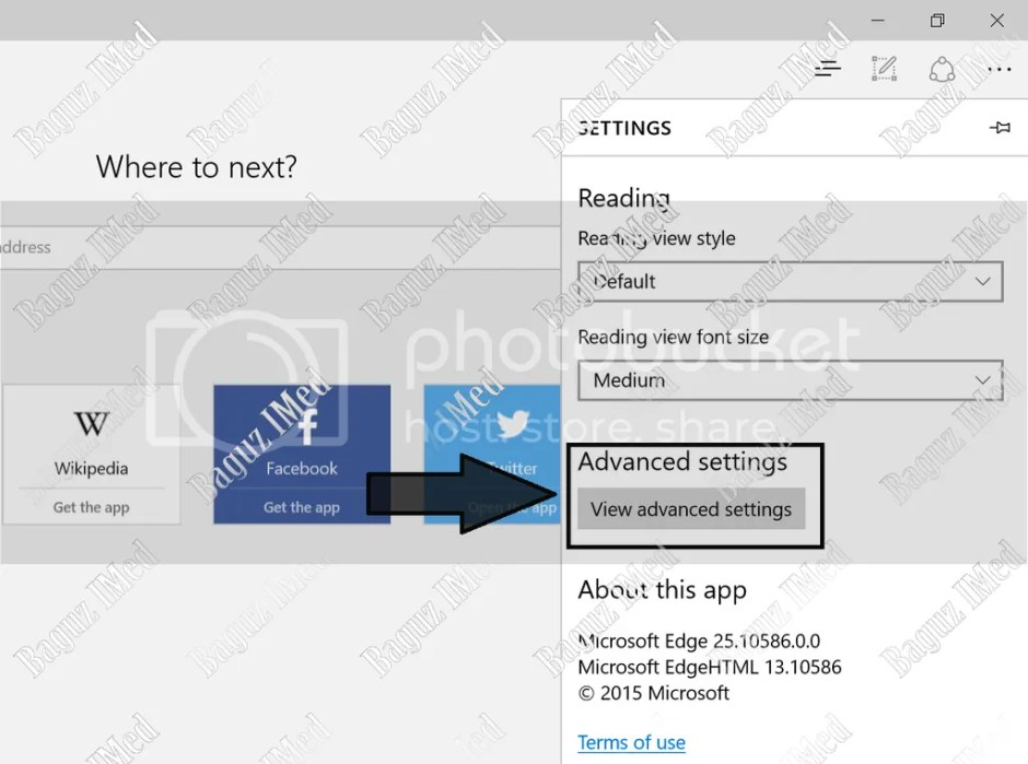 Cara Seting Proxy di browser Microsoft Edge