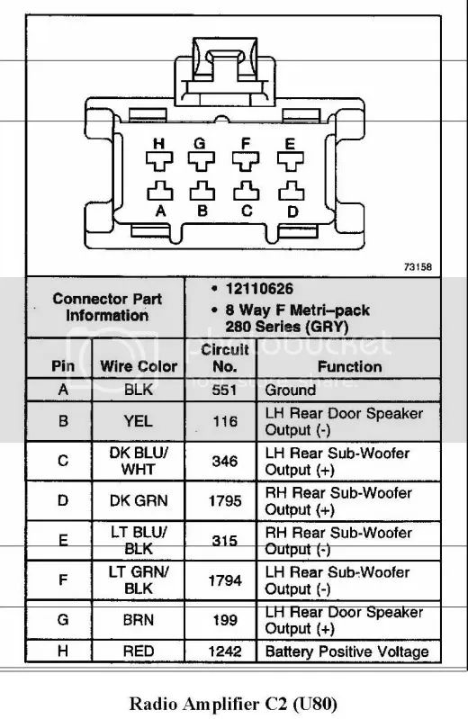 gm bose amp wiring diagram
