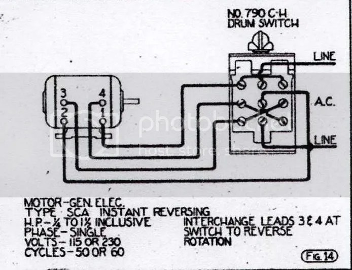 reversing drum switch wiring diagram 24 volt motorola alternator reverse all data ge 5kh45 motor to a cutler hammer 99 beetle