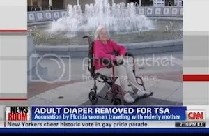 TSA Makes 95 Year-Old Woman Remove Adult Diaper