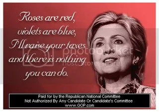 Happy Valentines Day from Hillary Nanny State Clinton