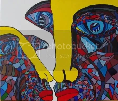 Kiss Acrylic Painting