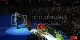 Overview at MJ's funeral