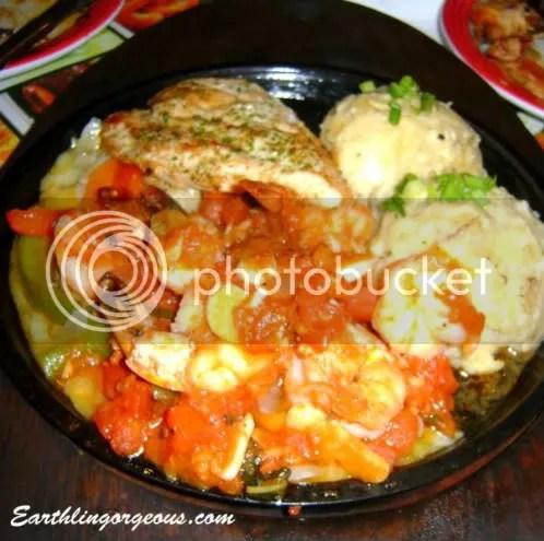 Seafood and Mashed Potato