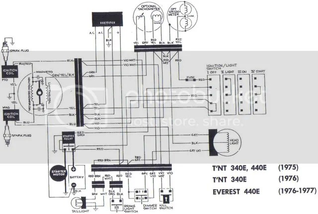 Wiring Diagram For 1978 Yamaha Enticer 340, Wiring, Get