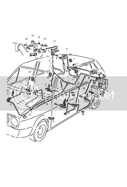 mk2 golf air central locking. Pipe diagram..