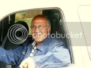 E.J. in truck