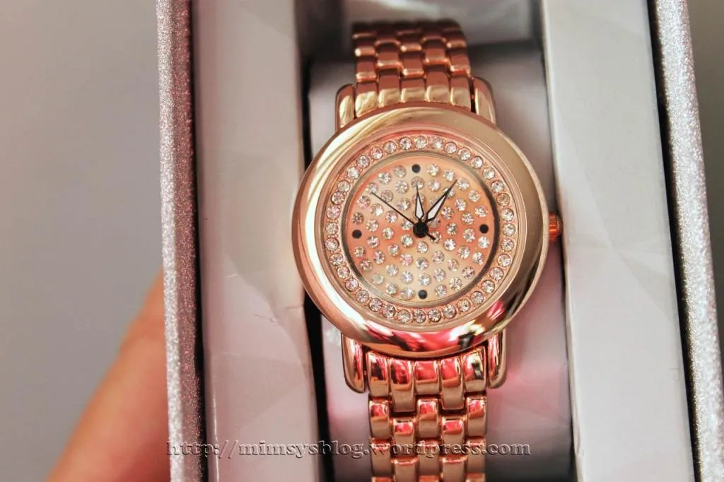Target Pave Dial Watch with Rhinestones - Rose Gold