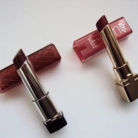 Revlon Lip Butter Fig Jam & L'Oreal Colour Riche Balm Plush Plum