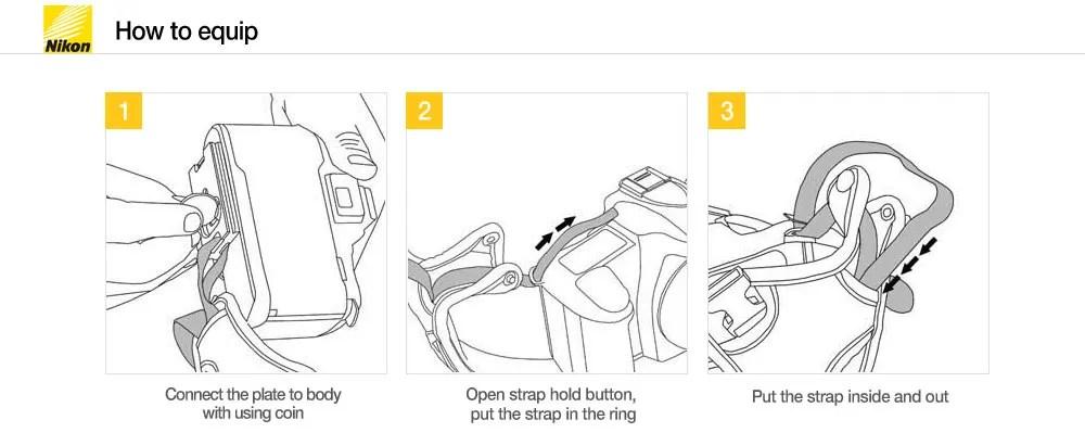 New Genuine Nikon Hand Grip Strap II for DSLR D60 D50 D550