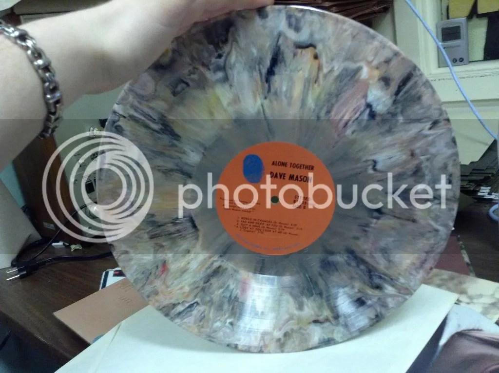 Pastel tie-dye record