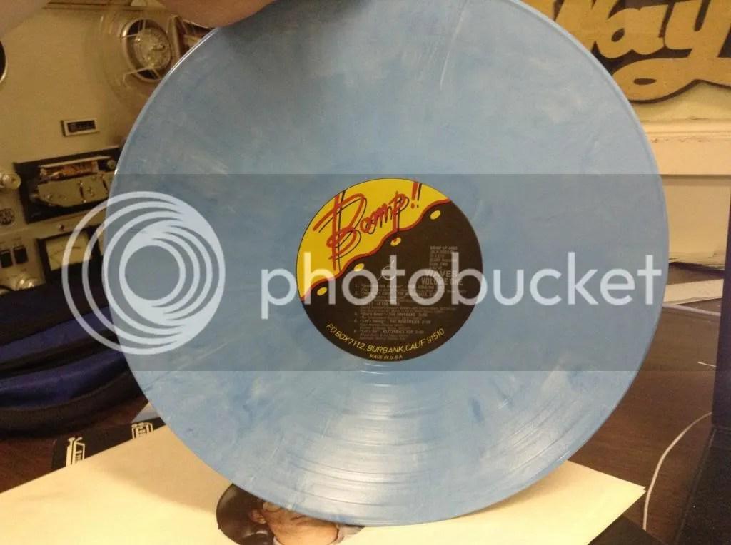 Blue pastel record