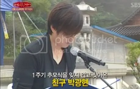 PARK YONG HA'S ONE YEAR MEMORIAL SERVICE
