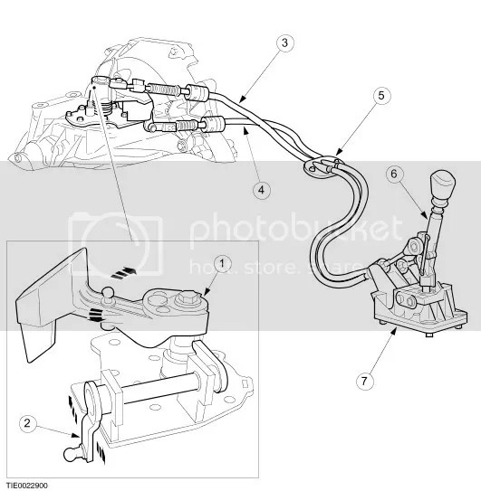 FORD TRANSIT GEAR CHANGE SELECTOR CABLE FWD MK6 BLUE BRAND