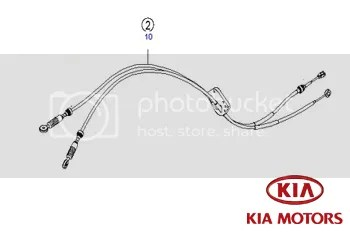 KIA Carens Gear Box Linkage Selector Cables 2.0 Diesel